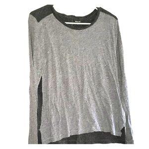 Heathered Light Grey & Charcoal - •Madewell•   Tee